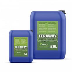 Feraway - mos in gazon - vloeibare meststof NPK 6-0-4 +2Fe in 5 liter of 20 liter