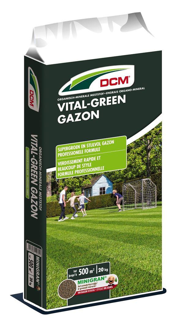 DCM VITAL GREEN GAZON 13-3-8 +3MgO Meststof 20kg - 500m²