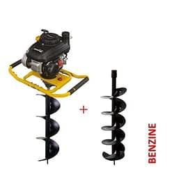 Lumag EB400PRO tweepersoons Grondboor inclusief boren 4-takt motor